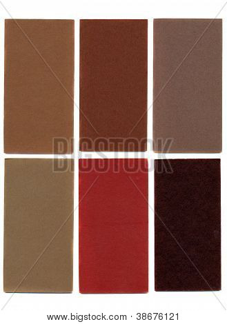Various Colorful Cardboard Cards Isolated On White