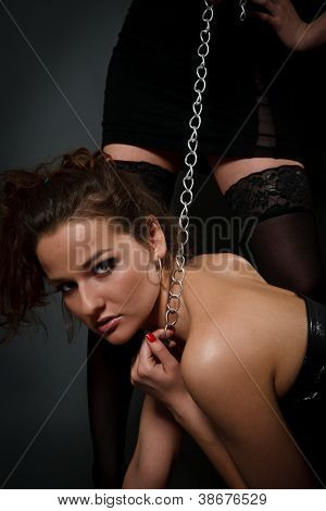 Young Woman Playing In Slave