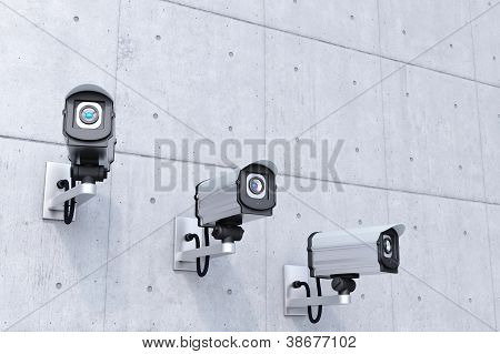 Security Cameras With Copyspace Top Right