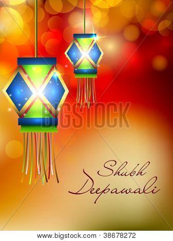 Lâmpada para o festival de Diwali em India de suspensão. EPS 10.