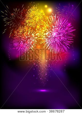Fire crackers background for Diwali festival celebration in India. EPS 10.