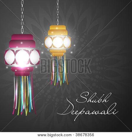 Hängeleuchte für Diwali-fest in Indien. EPS 10.