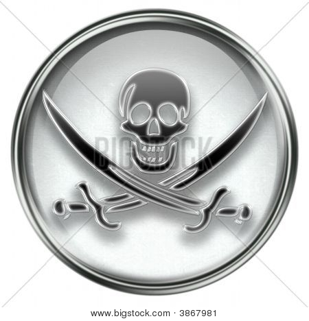 Piraten Symbol grau