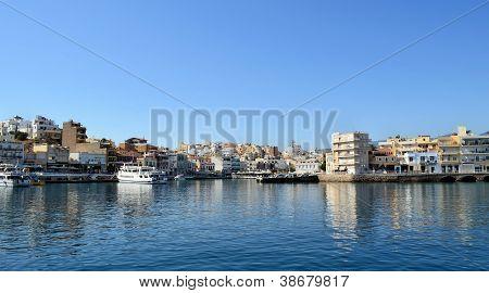 Small Greek Mediterranean Port