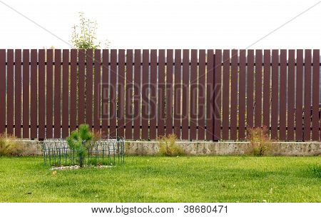 Isolated Rural Wooden  Fence