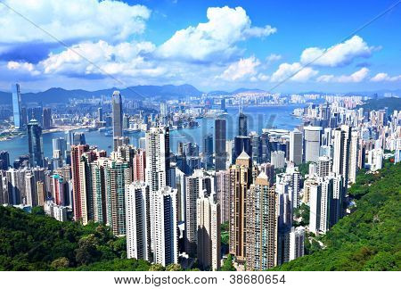 Hong Kong from peak