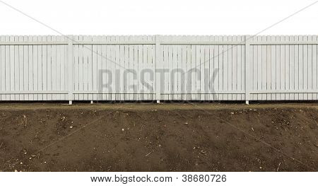 Wooden Fence Painted Gray