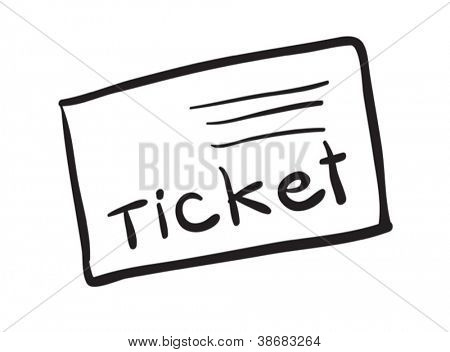 illustration of a ticket on a white background