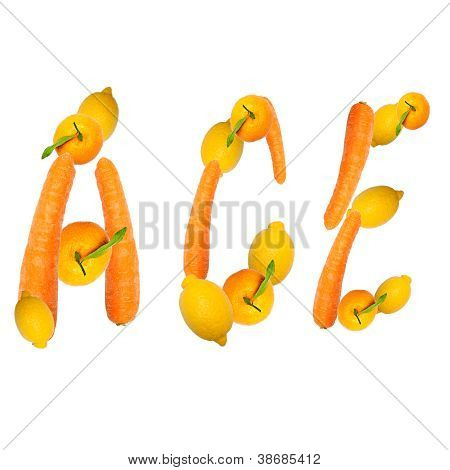 Ace Letter Of Fruits