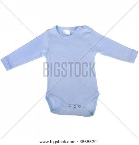 Blue cotton baby Outfit with long Sleeves