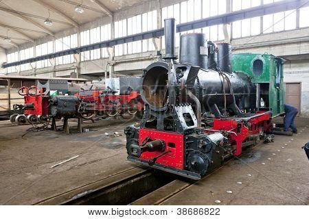 steam locomotives in depot, Banovici, Bosnia and Hercegovina