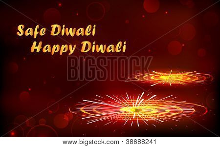 illustration of burning firecracker for happy and safe Diwali