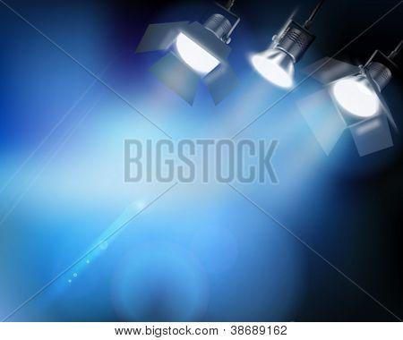 Spotlight from a performance. Vector illustration.