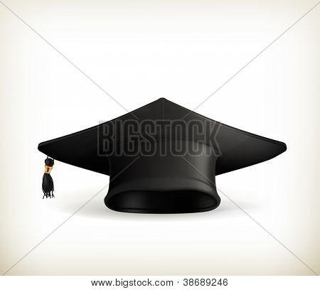 Graduation cap, vector