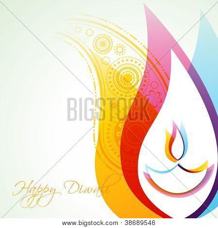 fundo de diwali feliz colorido bonito criativo vector