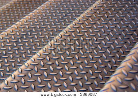metallischen Treppe