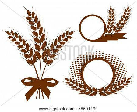 Set with  ears of wheat