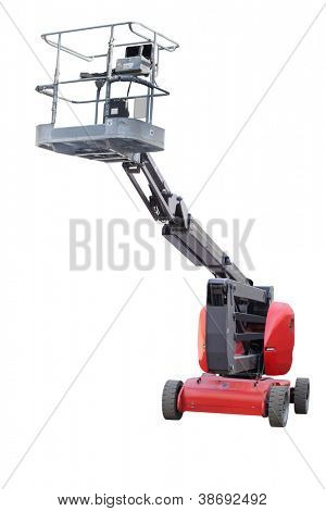 The image of a lifting machine under a white background