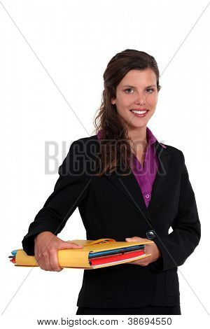 Junior lawyer with case folder