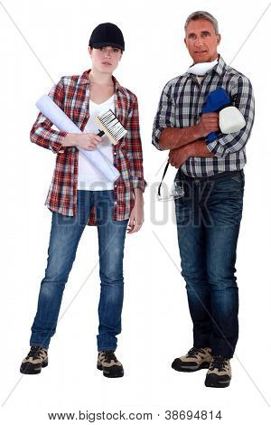 Male and female decorators