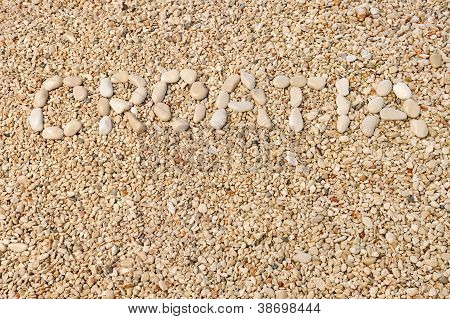 Croatia word made of pebbles