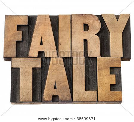 fairy tale - isolated text in vintage letterpress wood type
