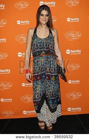 "LOS ANGELES - OCT 16:  Lindsey Shaw arrives at  ""Pretty Little Liars"" Special Halloween Episode Screening at Hollywood Forever Cemetery on October 16, 2012 in Los Angeles, CA"