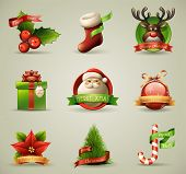 stock photo of illustration  - Christmas Icons - JPG