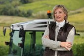 stock photo of riding-crop  - Female farmer - JPG
