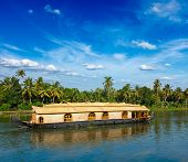 foto of houseboats  - Houseboat on Kerala backwaters - JPG