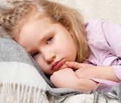 stock photo of viral infection  - Illness child - JPG