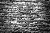 stock photo of stonewalled  - Old grunge brick wall background - JPG