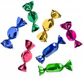 colorful candies Isolated