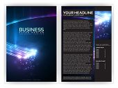 3D optische vezels Business Brochure sjabloon | Bewerkbare Vector lay-out