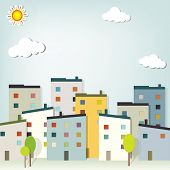 picture of applique  - urban landscape - JPG
