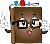 Mascot Illustration Featuring a Book with Bookmarks Inserted Between its Pages
