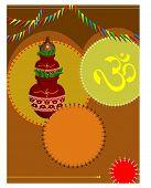 image of kalash  - Divine Kalesh With Aum - JPG