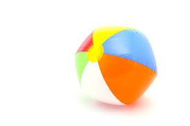stock photo of beach-ball  - beach ball on white background - JPG