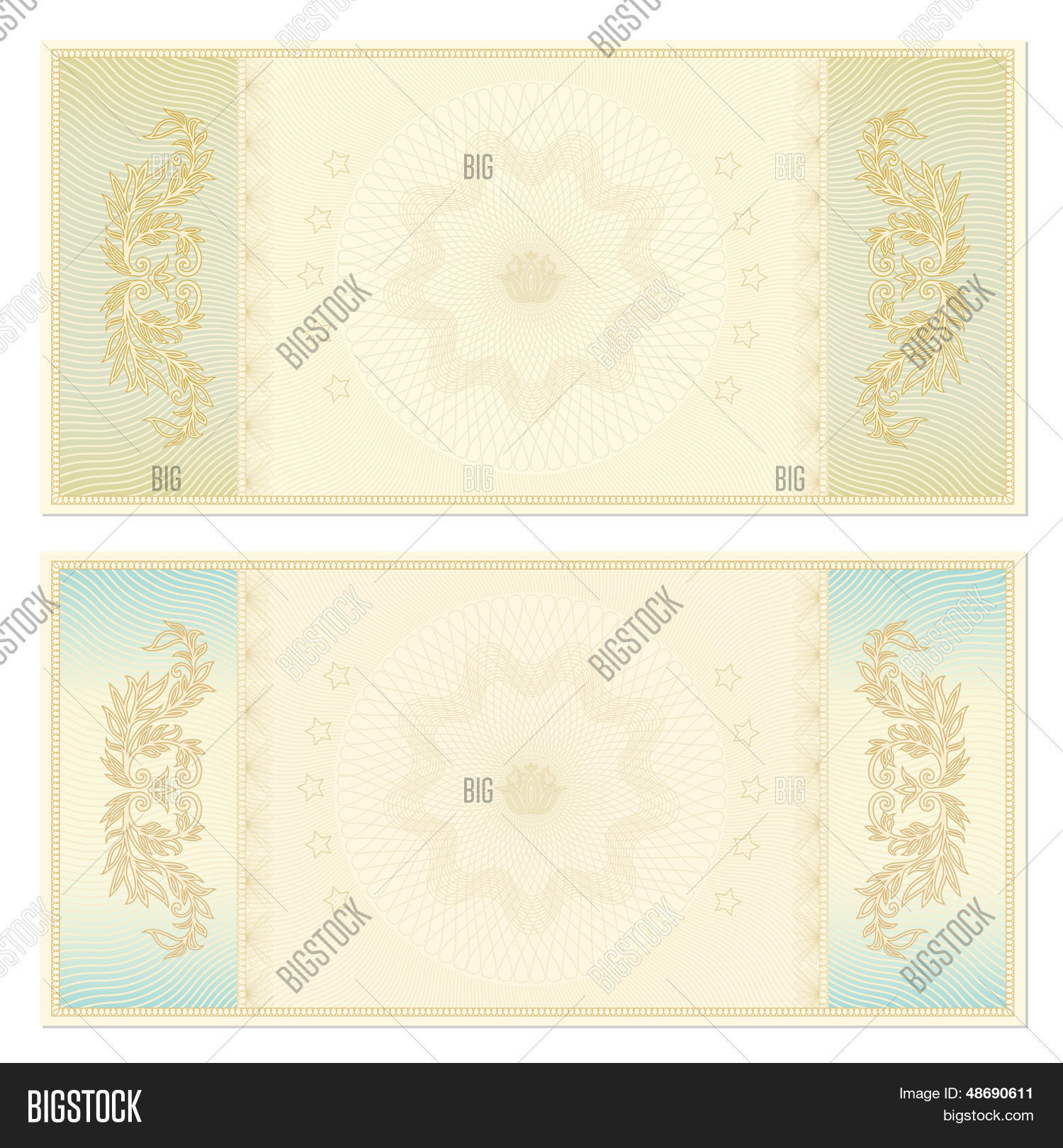 Gift Voucher certificate coupon template banknote money – Money Coupon Template