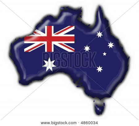 Australian Button Flag Map Shape