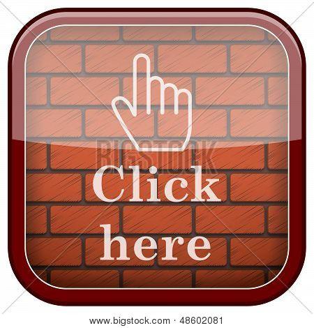 Icono de la pared de ladrillos