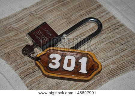 key, lock and tag number