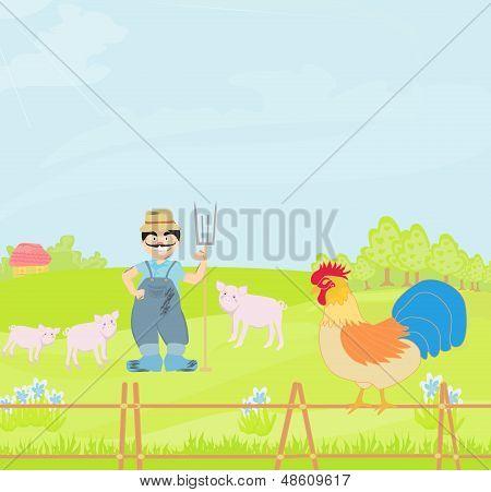 Cartoon Farmer Character