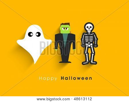 Poster, banner or background for Halloween Party Night.