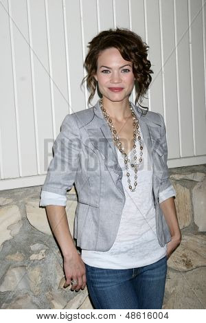 LOS ANGELES - JUL 27:  Rebecca Herbst arrives at the 2013 General Hospital Fan Club Luncheon  at the Sportsman's Lodge on July 27, 2013 in Studio City, CA