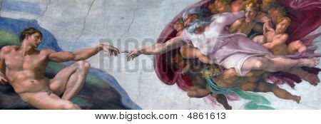 Rome Sistine Chapel Creation Of Adam Small