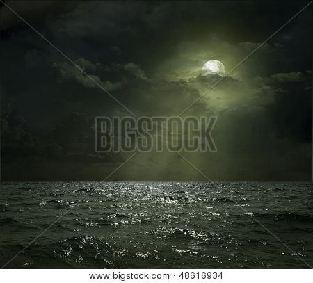night sea, the ocean as a natural background
