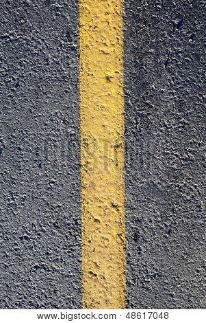 asphalt with yellow line