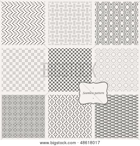 Vector set- eamless pattern ( pixel style )