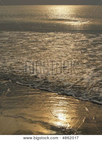 Sparkling Morning Sea; Hunting Island, Sc